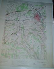 Vintage Lg Wall Map Oneida New York Usgs 1955 Lenox Vernon Lincoln Wampsville