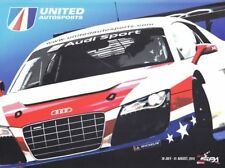 2010 United Autosports #68 Audi R8 Lms 24 Hours of Spa Fia Gt postcard Cheever