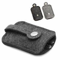 Car Key Wallet Purse Woolen Felt Keychain Holder Pocket Organizer Pouch Case Bag