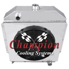 """3 Row Perf Radiator W/ 16"""" Fan and Shroud for 1949 - 1953 Ford Cars Chevy Eng"""