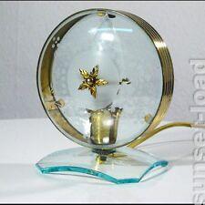 Ausgefallene 30er 50er Jahre Tischleuchte Glas Messing