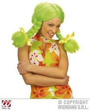 Neon Green Wig With Bunches Rag Doll School Girl Katy Perry Fancy Dress