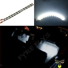 "2X 12"" Super white 12 SMD LED interior strip footwell ambient light exterior #B1"