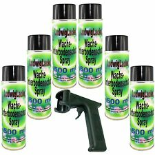 Wachs Spraydosen Unterbodenschutz 6 x 500ml und Haltegriff für Autolack Lackiere