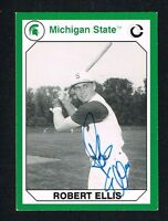 Robert Ellis 1990 Michigan State Collegiate Collection signed autograph Card