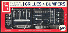 Vintage AMT Custom Plastic Model Grille & Bumper Parts 1/25 New Old Stock 1960s