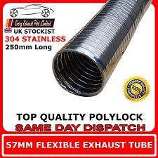 "57mm 2""1/4 Universal Flexible Exhaust Repair Tube Polylock Stainless Steel 0.25M"