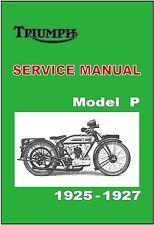 TRIUMPH Owners Workshop Manual Model P 1925 1926 1927 Service and Repair