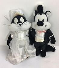 Vintage Warner Brothers Pepe Le Pew Y Penelope Wedding Bride novio Peluche