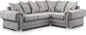 SALE Verona Grey Fabric Corner Left Hand Or Right Hand