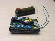 Vintage Marx Japan Tin Tank Battery Operated With Remote toy