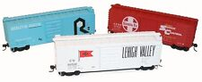 Accurail Sf - Lv - Ri (Red, White, Blue) 40' Ps-1 Box Car Kits (3 car set) Nib