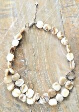 Silpada .925 Sterling Silver Mother-of-Pearl Chunky Necklace RETIRED N1825