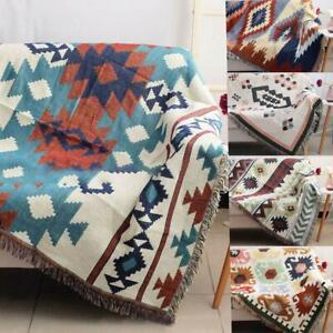 Tribal Ethnic Geometric Aztec Navajo Throw Rugs Sofa Art Bohemia Blanket Decors