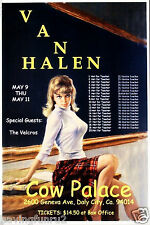 Van Halen Concert Poster Cow Palace  May 9 - 11 11 x 17 Giclee print