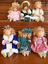 """Lot of 6 Collectors Choice Series By DanDee Porcelain 8"""" Doll Musical Animated"""