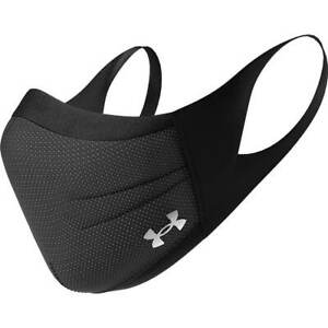 Under Armour Sports Face Mask M/L Unisex Adult BLACK CHARCOAL Fast Shipping NEW