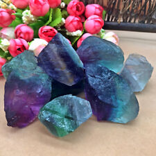 Perfect Natural Fluorite Quartz Crystal Stones Rough Polished Gravel Specimen