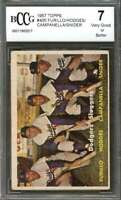 1957 topps #400 FURILLO/HODGES/CAMPANELLA/SNIDER brooklyn dodgers BGS BCCG 7