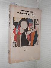 LA CHIAVE A STELLA Primo Levi Einaudi 1978 libro romanzo narrativa racconto di