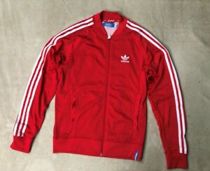Adidas Vintage, Womens classic, full zipped tracksuit top, Red, size L (46)