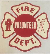 Fire Department Volunteer Fire Company Decal Emblem Lot of 4