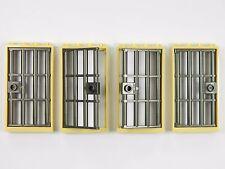 LEGO BANDITI PORTA Gate 1x4x6 Tan Dk. Grigio x4 per Castle CARCERE PRIGIONE CARCERE BARRE