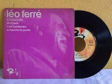 """LEO FERRE -LA MELANCOLIE / C'EST L'PRINTEMPS- FRENCH 7"""" EP PS CHANSON"""