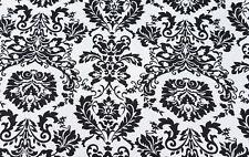 Organic Cotton Spandex Print #5 Fabric by Yard Jersey Knit Black White 8/2/17
