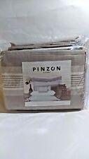 Pinzon Yarn Dye Stripe 100% Cotton Duvet Set, King Gray (Display Model)
