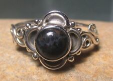 Sterling silver cabochon Pietersite everyday ring UK K¾-L/US 5.75-6