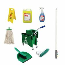 Jantex Colour Coded Cleaning Kit Green [SA475]