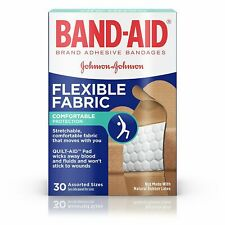 Band-Aid Flexible Fabric Bandages Assorted Sizes 30 Each