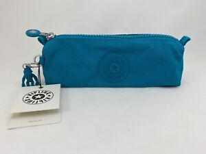 Kipling Freedom Pencil Makeup Case Pouch Turquoise Sea $29 NWT
