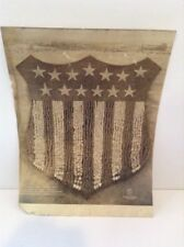 "1918 Ww1 ""Human Us Shield"" Large Photo, Camp Custer, Battle Creek, Mi"
