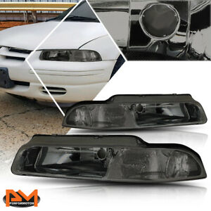 For 95-00 Chrysler Cirrus/Dodge Stratus Headlight/Lamp Smoked Housing Clear Side