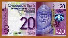 Scotland, Clydesdale Bank, 20 pounds,  2015, P-New, UNC > ZZ REPLACEMENT