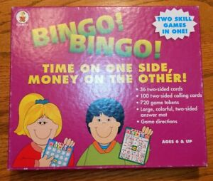 Bingo Time & Money By Carson-Dellosa Publishing Ages 6+ 36 two-sided cards