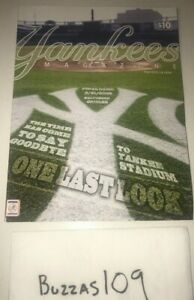 9/21/08 Last Game Ever Yankees Baseball Opening Day Program Magazine OLD Stadium
