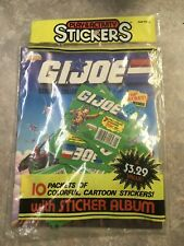 Diamond G.I. Joe Play In Activity Stickers Unopened 10 Sticker Packs With Book