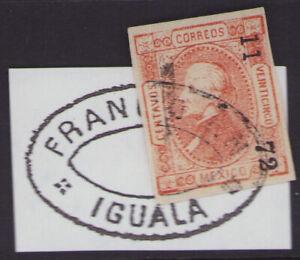 cv37 Mexico #95 25ctv TIXTLA  11-72 / YGUALA Sz 1642 10pts est $40-60 Nice F-VF