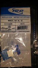Brand New - ICC IC1078E5WH - Cat5 Jack - White