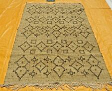 Hand-Woven Tribal 5x8 Anatolian Jute Kilim Turkish Oriental Large Area Rug