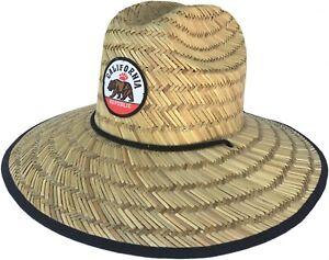 Headchange Wide Brim Lifeguard Hat Rush Straw Beach Sun Summer Safari Hiker