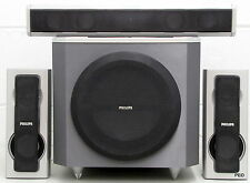 Philips Surround Sound Speakers With Subwoofer SW6300D Center Two Front