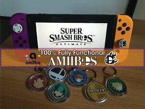 Super Smash Bros Ultimate Amiibo Keychains @@100% Fully Functional Amiibo!@@