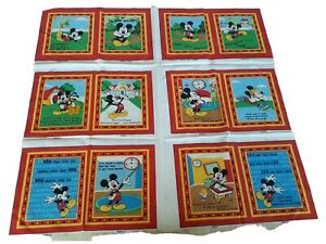 Disney All About Me book a Trilingual Softbook M is for Mickey, Fabric Panel