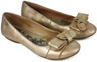 BORN Women's Ballet Flats Gold/Bronze Distressed Look Leather Shoes sz 10     S5