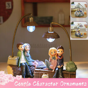 Night Light Resin DIY Crafts Couple Character Lamp Ornaments Creative Gifts UK