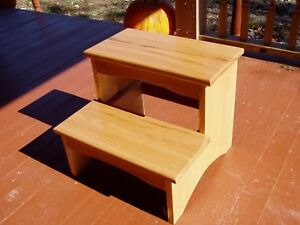 Step Stool Wood Country 2 Steps